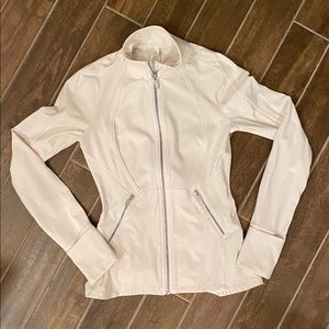 Lululemon Athletica Fitted Zip Up Jacket (white)